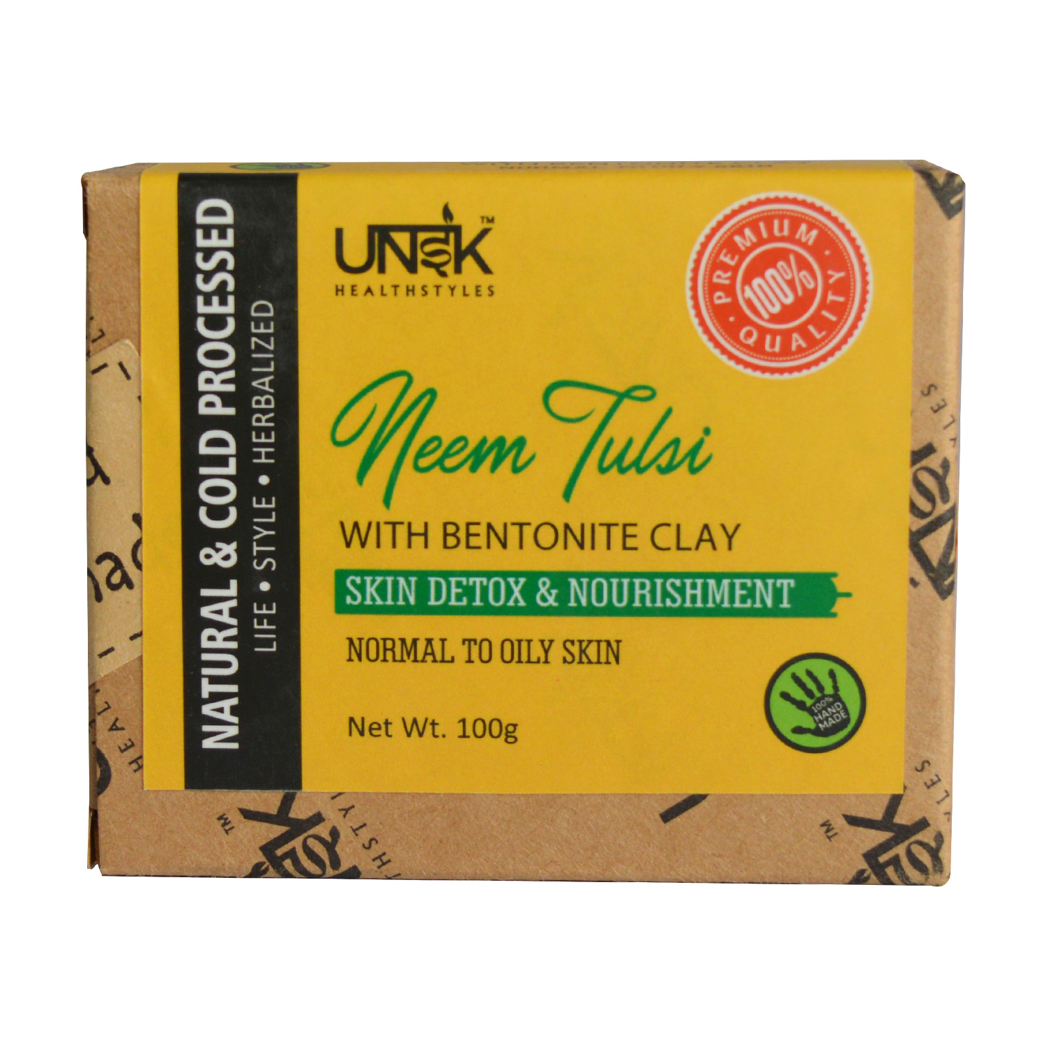 Handcrafted Neem Tulsi Soap with Bentonite Clay   MRP: Rs.249