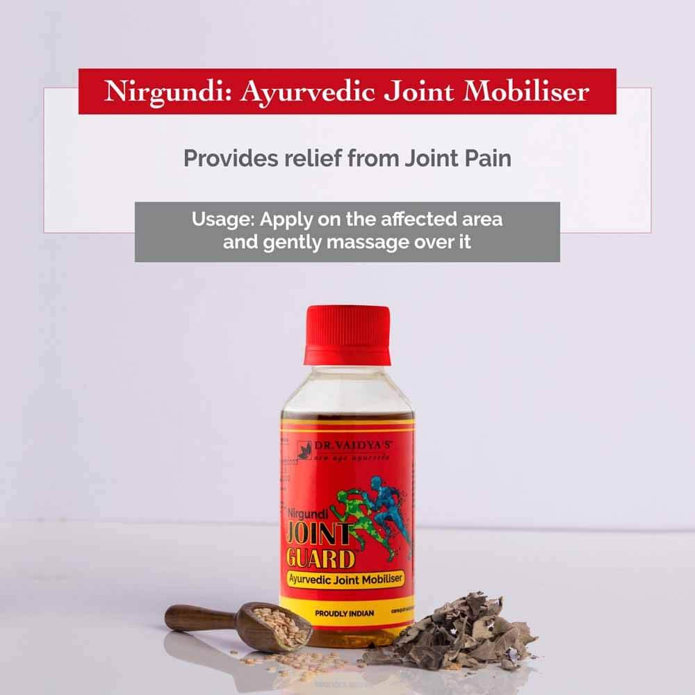 Nirgundi Joint guard: Ayurvedic Oil For Joint and Muscular Pains & Rumox: Ayurvedic Pain Balm for Muscle and Joint Pain | MRP: Rs. 325
