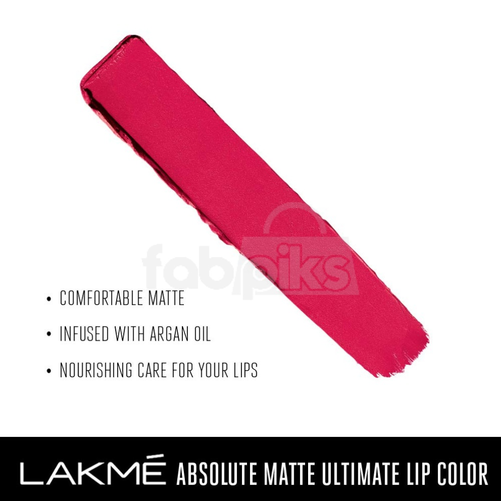 Absolute Matte Ultimate Lip Color with Argan Oil-Sinful Cherry + Orange Country   MRP Rs. 1600
