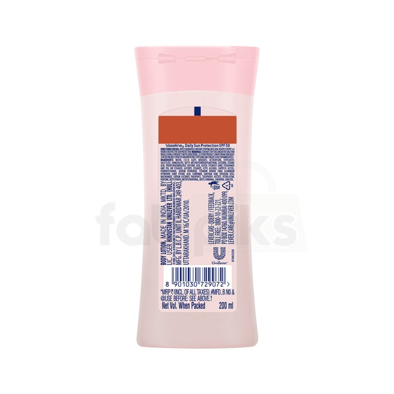 Vaseline Sun Protection SPF 50 Body Lotion, 200 ml | MRP: Rs. 375