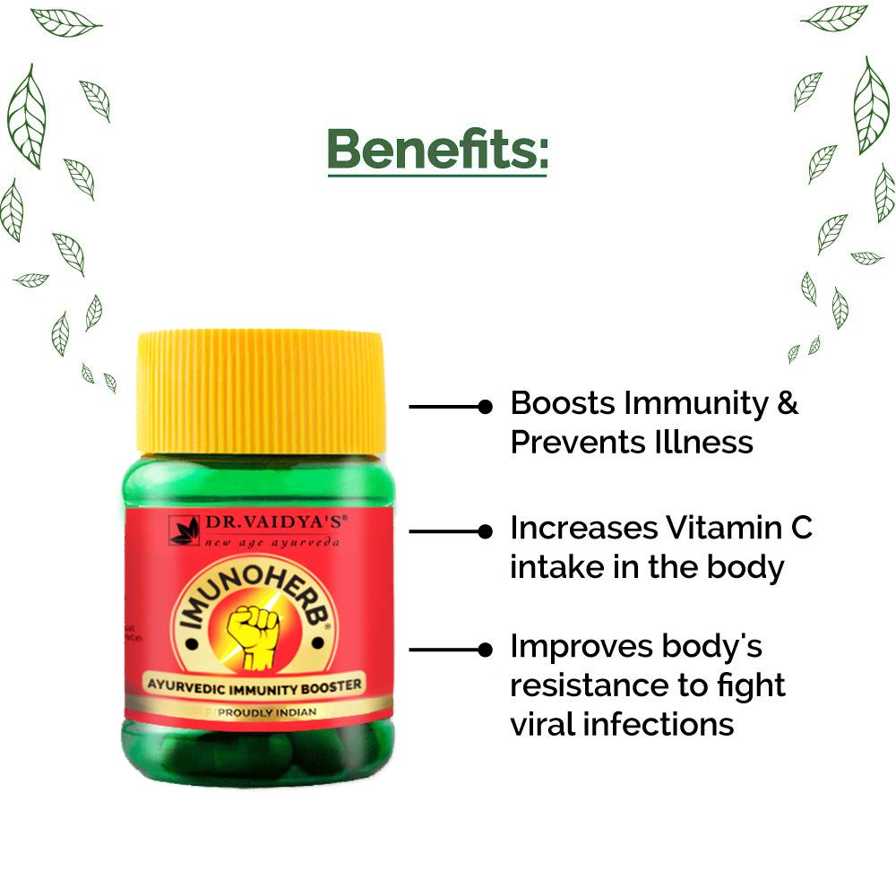 Imunoherb: Immunity Booster Capsules | Herbocleanse: Fruit and Veggie Wash | Giloy Capsules | MRP: Rs. 490