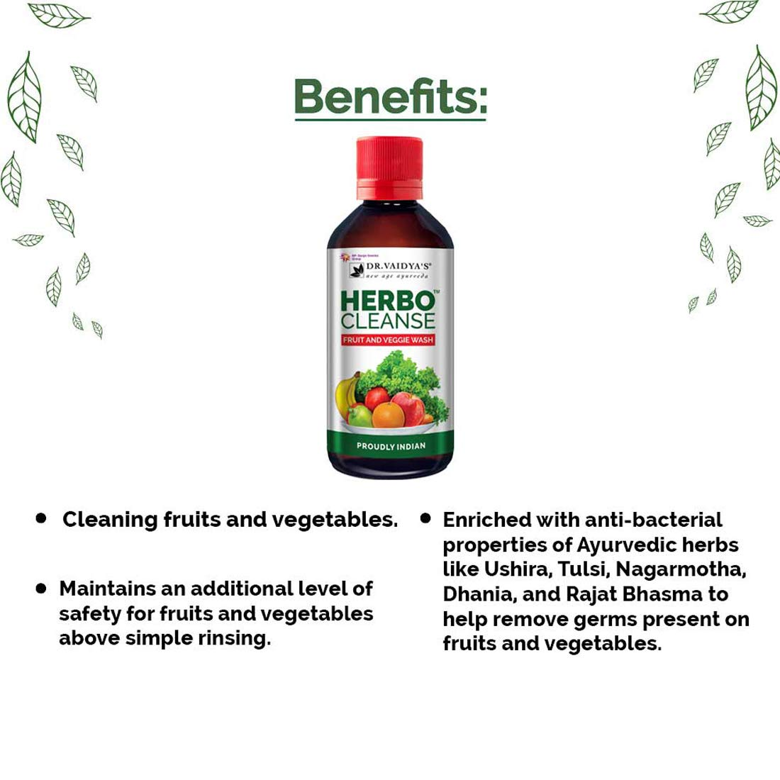 Herbocleanse: Fruit and Veggie Wash | MRP: Rs. 150