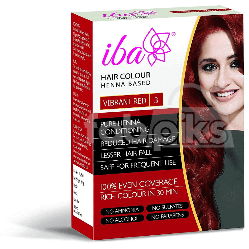 Iba Vibrant Red Hair Color 60gm