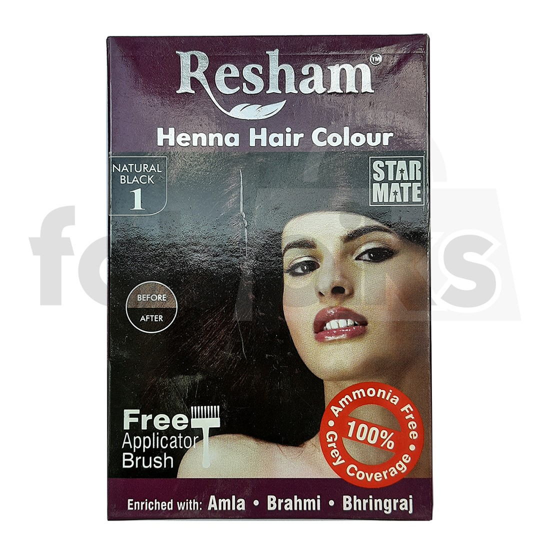Resham Henna Hair colour Black