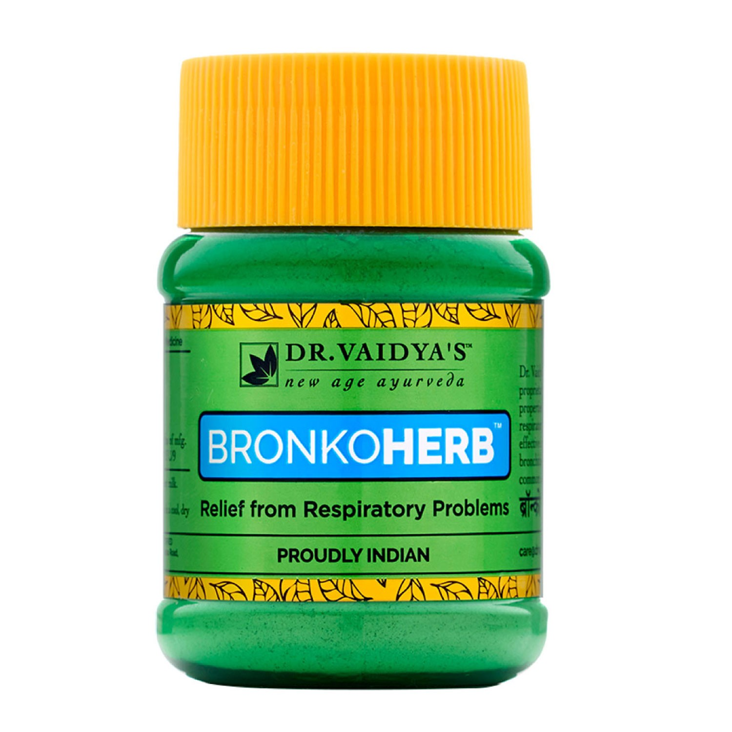 Dr. Vaidya's Bronkoherb Powder Ayurvecic Treatment for Asthma & Respiratory Problems - Pack of 2