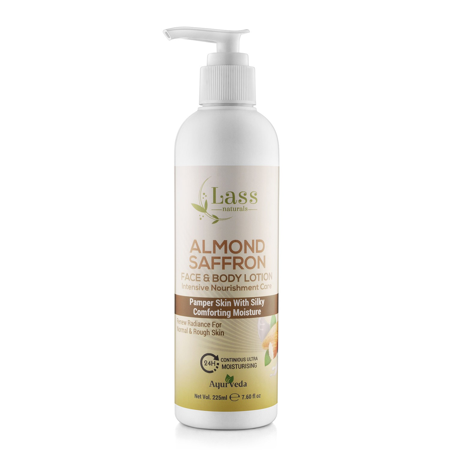 Almond Saffron Face & Body Moisturising Lotion