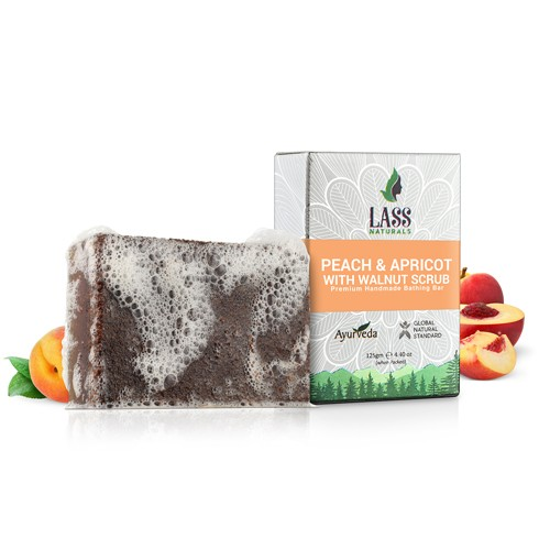 Peach & Apricot with Walnut Handmade Premium Bathing Soap