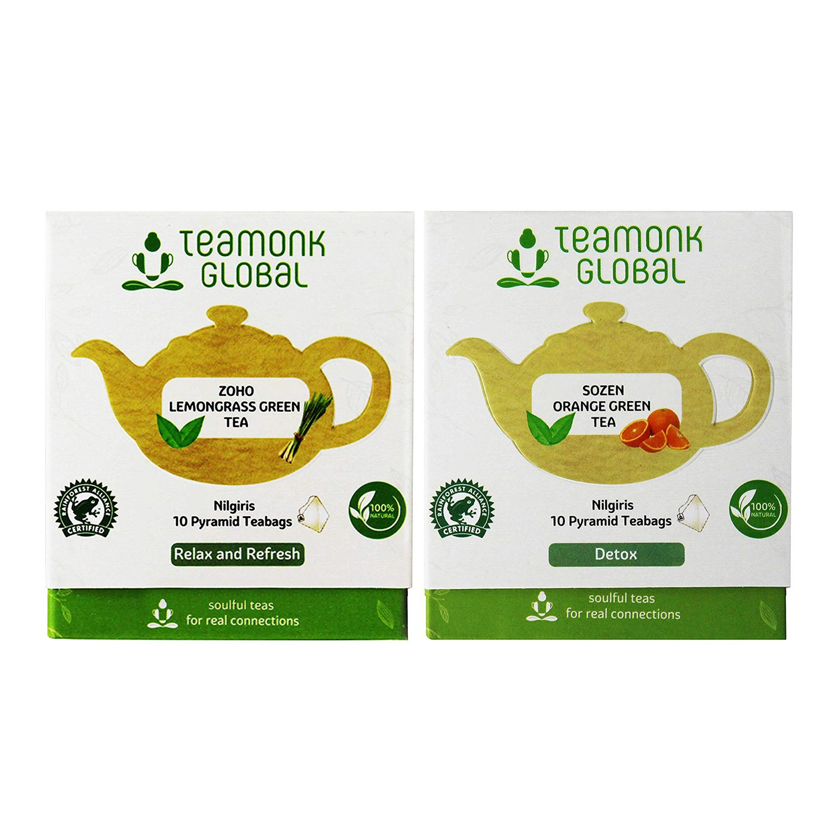 Combo pack of Orange + Lemongrass Tea 20 Tea Bags | MRP: Rs. 430