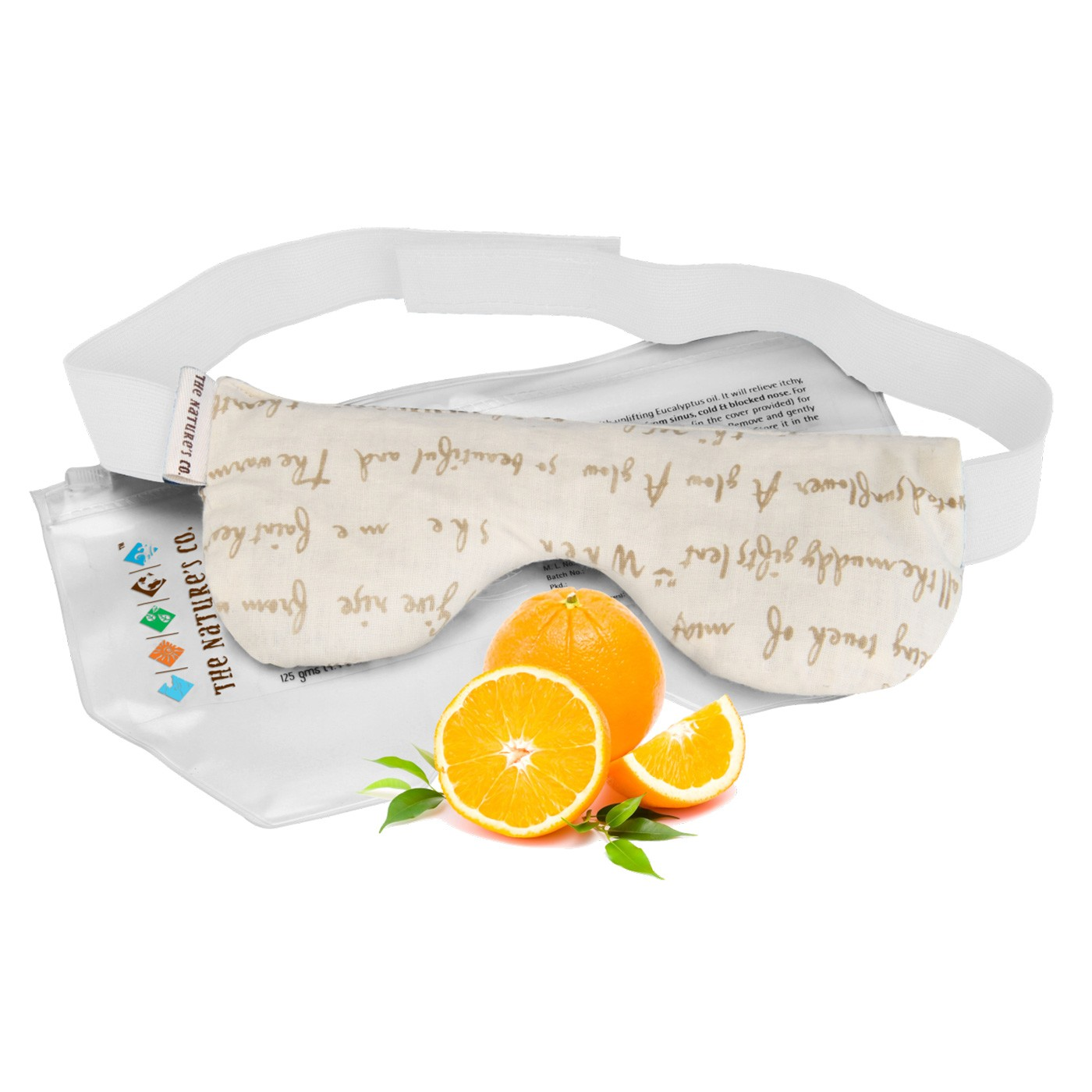 Orange Eye Pillow with Band