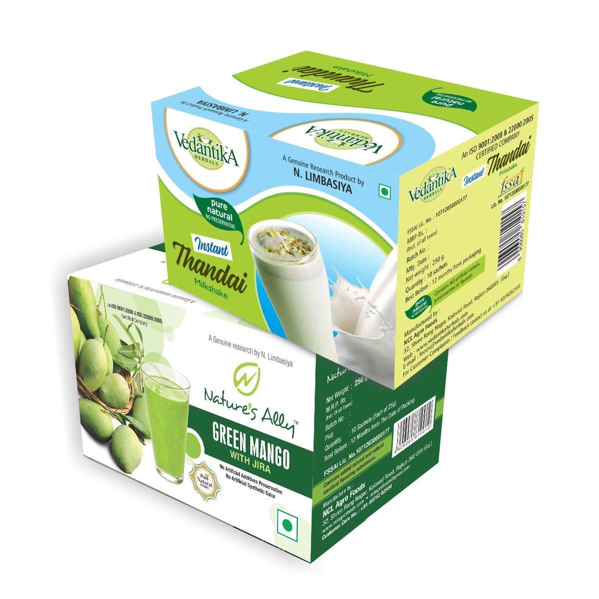 Summer Special Drinks (Combo Pack) - Green Mango + Instant Thandai