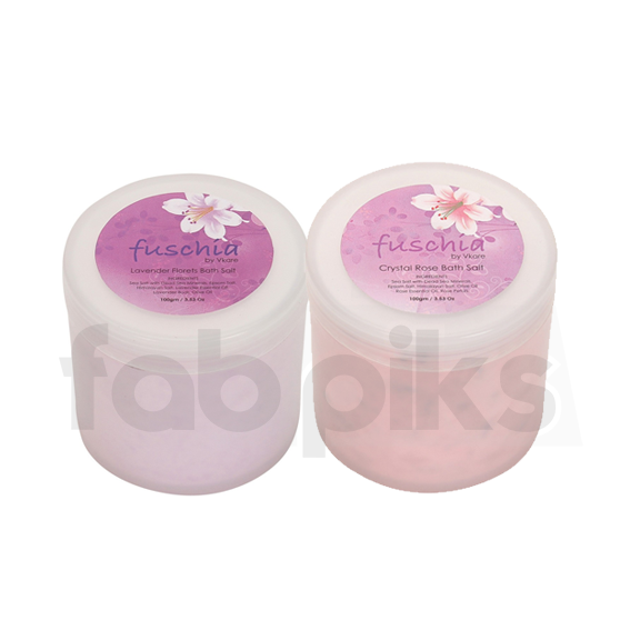 Bath Salt Combo (Crystal Rose & Lavender Florets) | MRP: Rs. 900