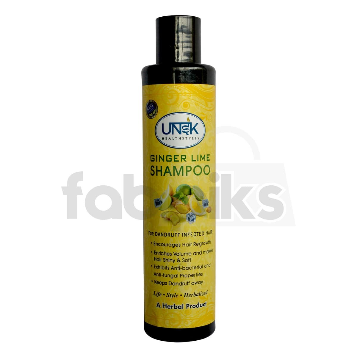Herbal Ginger Lime Shampoo for Dandruff Infected Hair | MRP: Rs.298