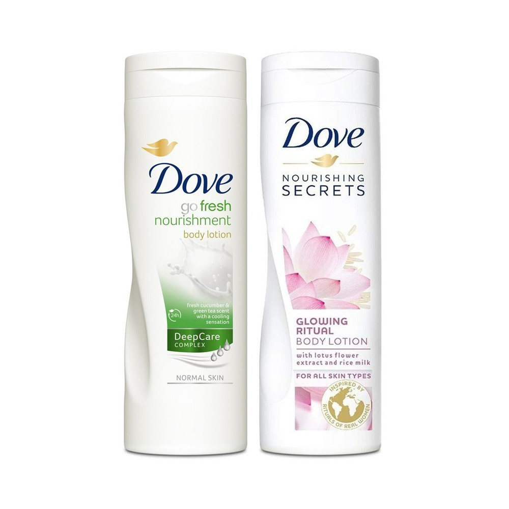 Go Fresh Nourishment + Nourishing Secrets Body Lotion | 250 ml each | MRP : Rs. 640
