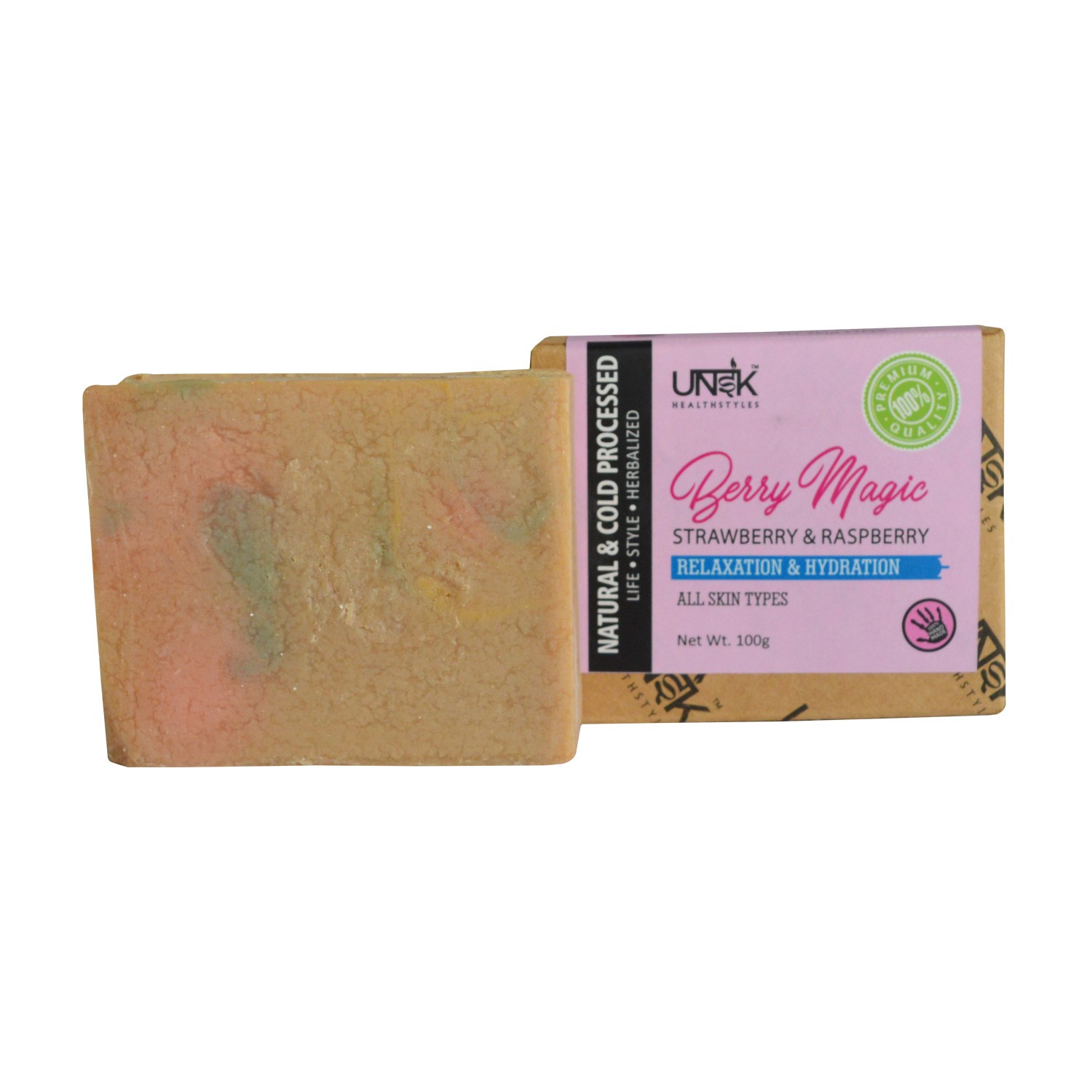 Handcrafted & All Natural Berry Soap | MRP: Rs.249