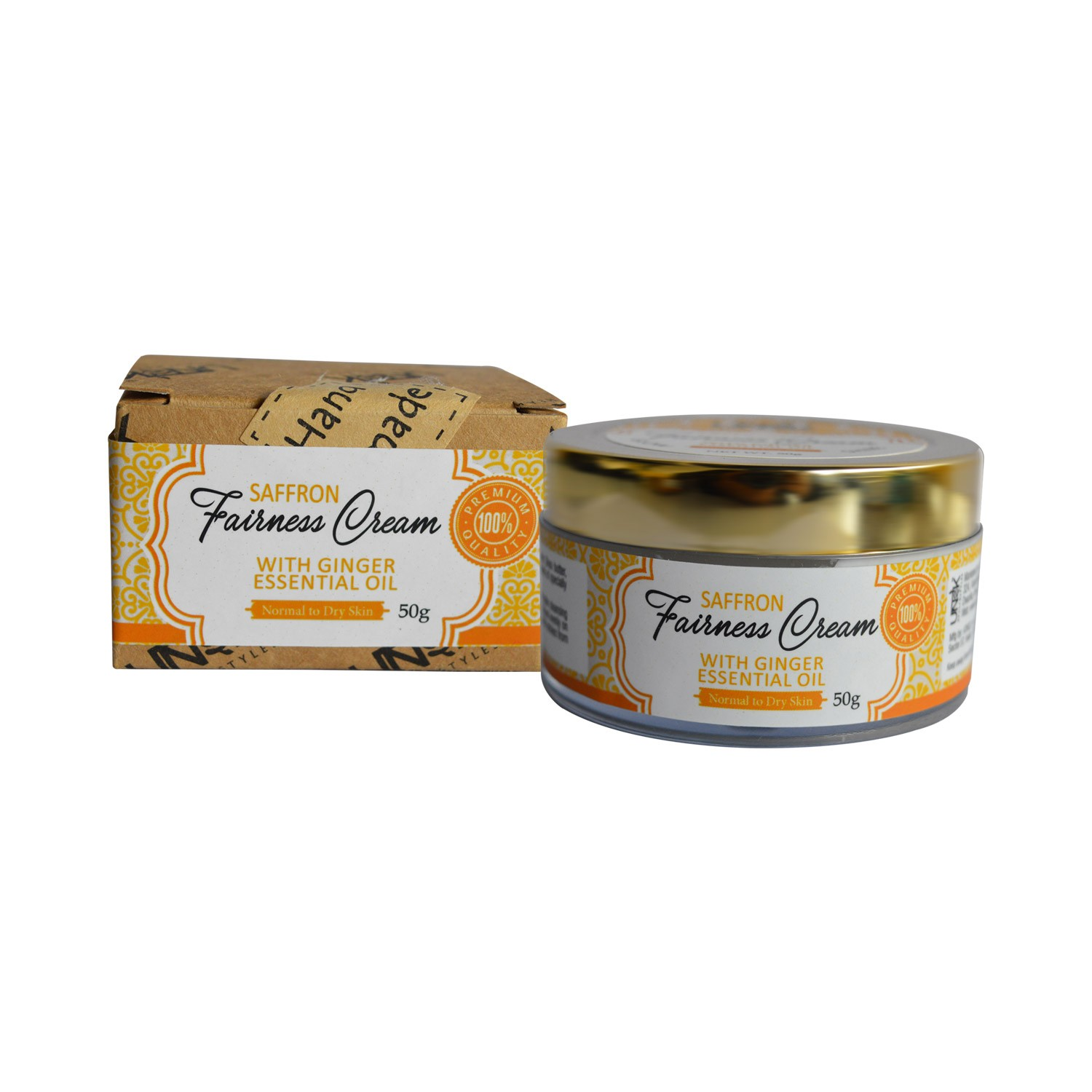 Handcrafted Fairness Cream (with Saffron, Rose Water & Ginger essential Oil) | MRP: Rs.899