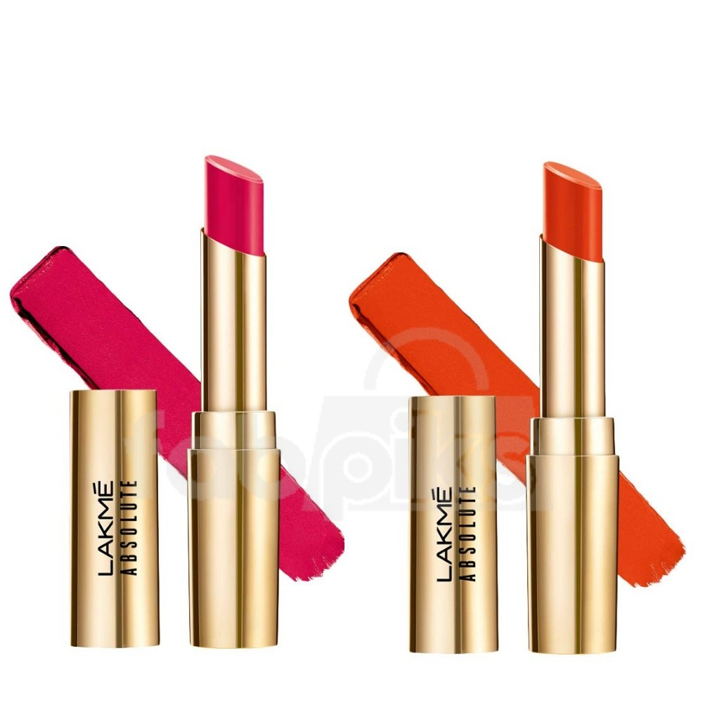 Absolute Matte Ultimate Lip Color with Argan Oil-Sinful Cherry + Orange Country | MRP Rs. 1600