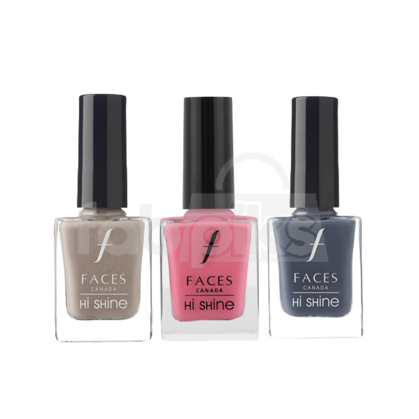 Hi Shine Nail Enamel - Assorted Shades set of 3  | MRP Rs. 597