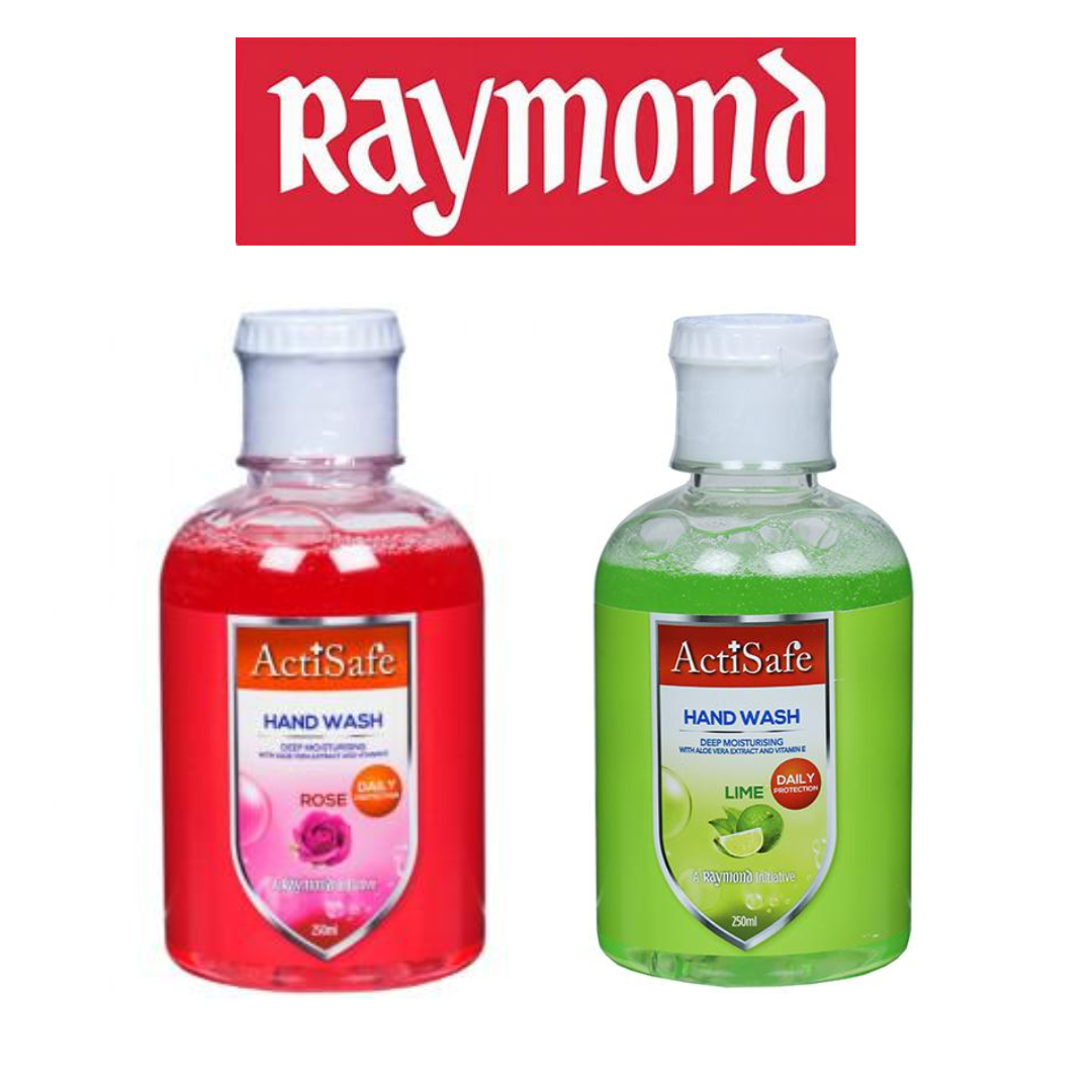 ActiSafe by Raymond Hand Wash Combo - Lime + Rose | 250ml each | MRP Rs. 150