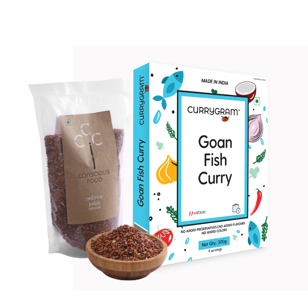 Currygram - Goan Fish Curry 300gms with Red rice 150gms