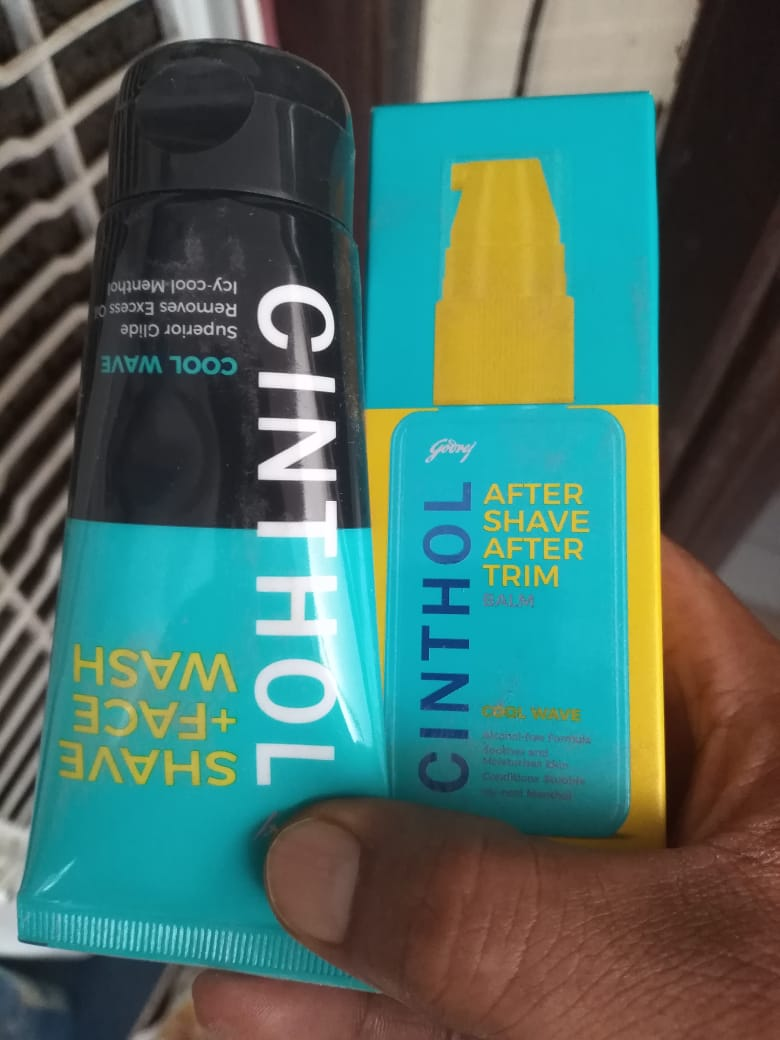 Cinthol - After Shave After Trim Balm and Shave + Face Wash | MRP: Rs.190